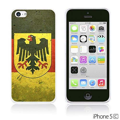 OBiDi - Flag Pattern Hard Back Case / Housse pour Apple iPhone 5C - Germany German Flag With Emblem