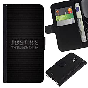 NICE GIFT GOOD PRESENT // Smartphone-Schutzhülle Hartschalen-Tasche Hülle HandyHülle für Mobiltelefon Samsung Galaxy S4 Mini i9190 / SEI EINFACH DU SELBST /