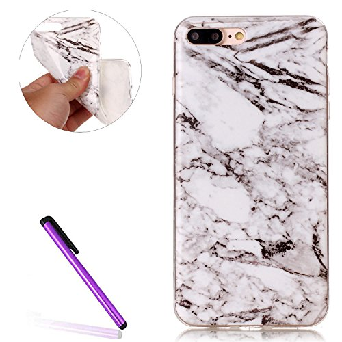 Glitzer Hülle für iPhone 6S Plus,Transparent Hülle für iPhone 6S Plus,iPhone 6 6S Plus TPU Case Schutzhülle Silikon Clear Case Etui,EMAXELERS iPhone 6S Plus Hülle Silicone,Niedliche Pulm Blumen Flower TPU 84
