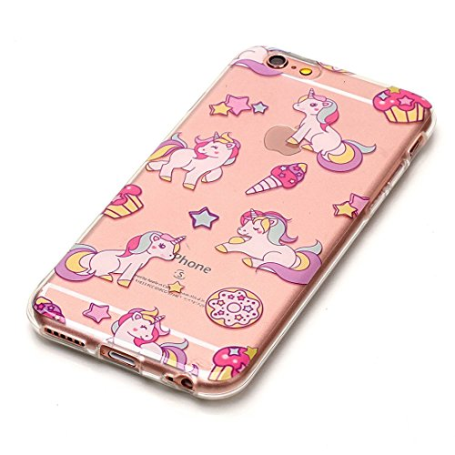 Lotuslnn iPhone 5C Conque- Anti-Scratch Protection Etui Pour iPhone 5c TPU Silicone Soft Cover 5c( Coque, Stylus Pen ,Screen Protector )-Mandala Unicorn