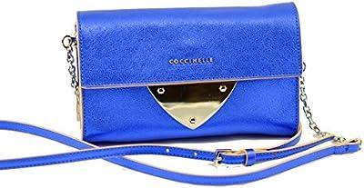 Coccinelle - Bolso cruzados de Piel para mujer azul azul