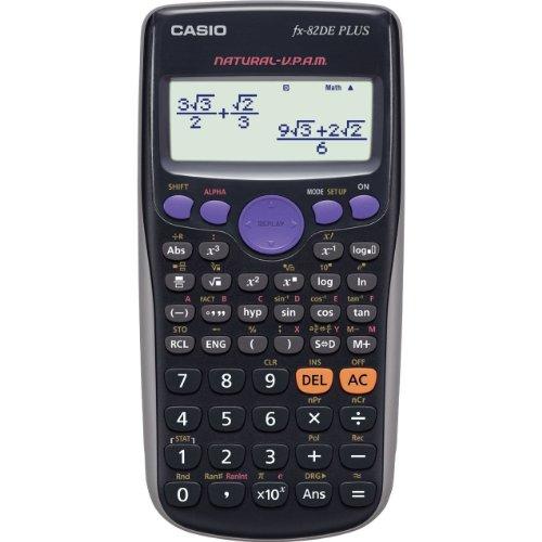 CASIO FX-82DE Plus wissenschaftlicher Taschenrechner / Schulrechner mit 252 Funktionen und natürlichem Display, Batteriebetrieb