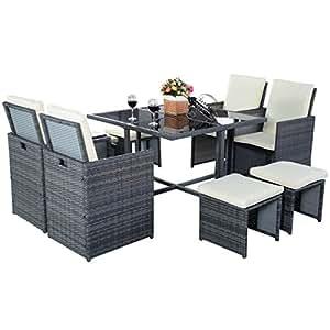 poly rattan gartenm bel sitzgarnitur sitzgruppe. Black Bedroom Furniture Sets. Home Design Ideas
