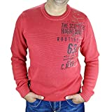 Camp David Pullover CCG-1709-4806 flamer ed / wale grey Scottish Highlands (S/48, flame red)