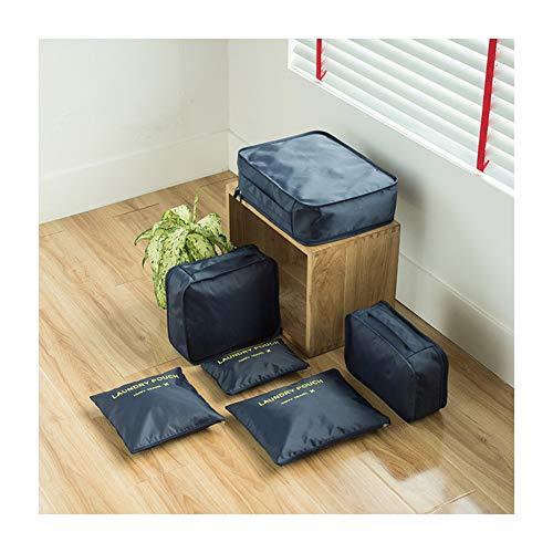 3-teiliges Leder-bett (Reisetasche, 6-teiliges Set für Gepäck, Kleidung, wasserdichte Veredelungstasche, Aufbewahrungstasche, 6 Stück Größe 3)