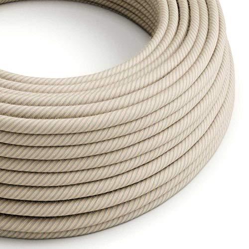 Creative-Cables Rundes, Vertigo-Textilkabel aus Stroh-Baumwolle und Leinen ERD20-10 Meter, 2x0.75 10 X Stroh