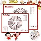 BSET BUY Backmatte 2er Set 71x51cm 40cm x 60cm, BPA Frei Silikon Backunterlage,...