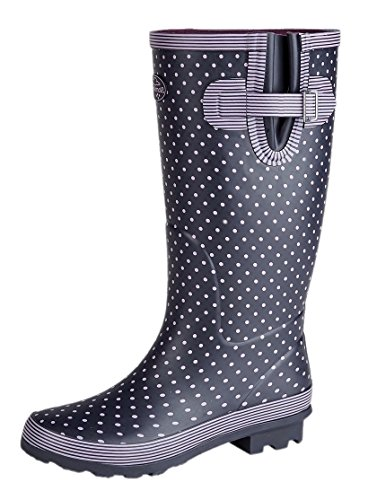 Ladies WIDE Calf Wellies Wellington Boots Plus Extra Comfort Memory Foam Insoles