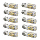 SCSY-Glühbirne LED-Lampen, G9/E14, 3W, Ersatz für 30W Halogenlampe, 3000K/6000K, 260LM, Packung mit 10 (Color : Cool White, Size : E14)