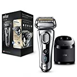 Braun Series 9 9290cc Men's Electric Foil Shaver, Wet and Dry with Clean and Renew Charge Station, Pop Up Trimmer, Rechargeable and Cordless Razor and Travel Case – Silver