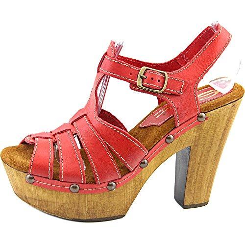 Sbicca Romana Femmes Cuir Sandales Compensés red