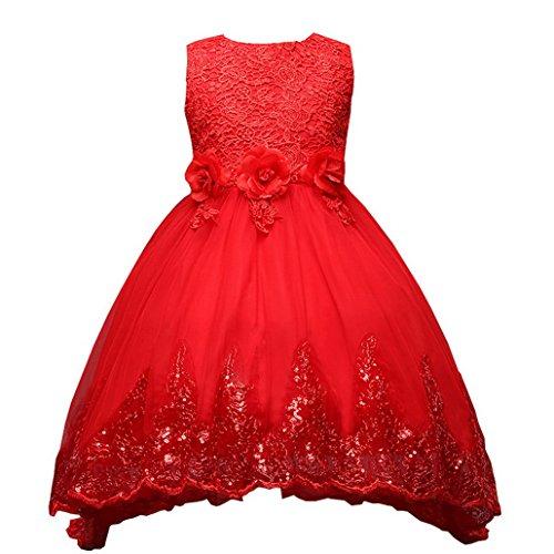 Mädchen Kleid,Evedaily Mädchen Prinzessin Kleid Party kleid Festlich Abendkleid Hochzeits Kleider Blummenkleid