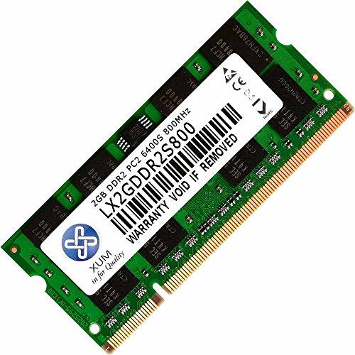 DrMemory XUM 1 x 2 GB 4 GB 8 GB DDR2 DDR2-800 MHz 800 PC2-6400 6300 Non-ECC für Sodimm Laptop Arbeitsspeicher RAM Komputer PC (2 GB (2 x 1 GB)) -