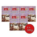 Melitta Gemahlener Röstkaffee, Filterkaffee, 100% Arabica, vollmundig mit sanfter Feigen-Note, Stärke 3, Kaffee des Jahres 2019, 6er Pack (6 x 500 g)