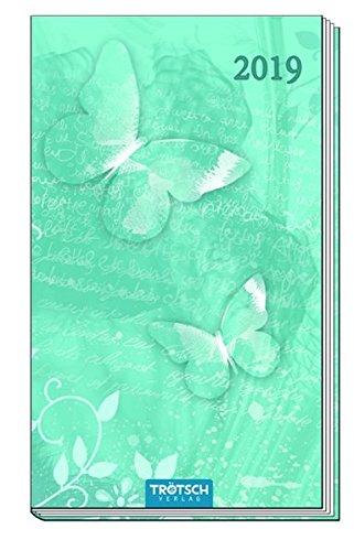 Taschenterminer 2019 Schmetterling 8 x 15 cm Taschenkalender Bürokalender