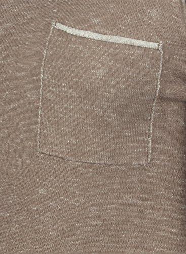 REDEFINED REBEL Maverick Herren Strickpullover Feinstrick Pulli mit Rundhals-Ausschnitt und Brusttasche aus 100% Baumwolle Meliert Faded Brown