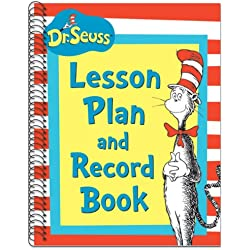 "Eureka Dr. Seusss Cat In Hat Lesson Plan/Record Book Miscellaneous, 40 Weeks, 8.5"" x 11"""