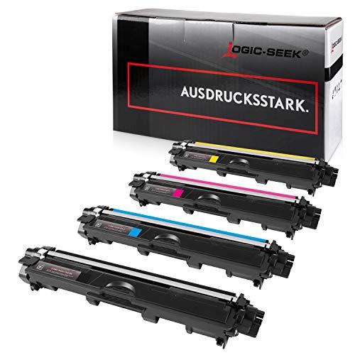 Logic-Seek 4 Toner kompatibel für Brother TN-242 TN-246 HL-3142 3152 3172 CW CDW DCP9017CDW - Schwarz 2.500 Seiten, Color je 2.200 Seiten
