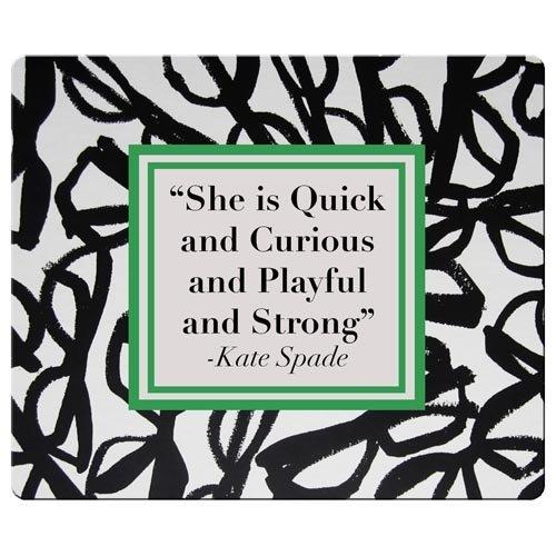 26x 21cm/25,4x 20,3cm Maus Pads Präzise Tuch und Natur Gummi Form ist Hohe Empfindlichkeit Kate Spade berühmten Top? Marke Logo