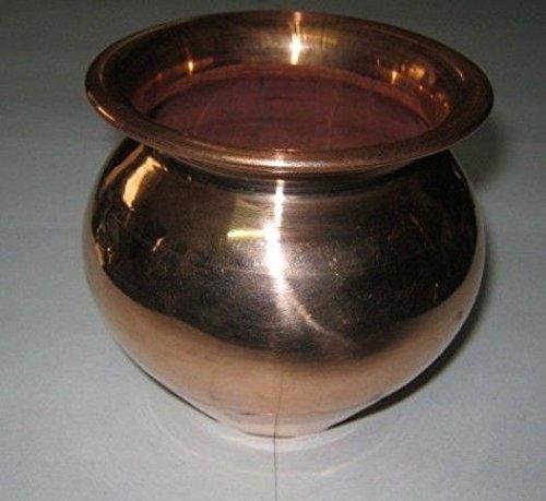 artcollectibles Inde 7,6 cm cuivre pot Rare Vessel cuivre massif Corps Santé Avantages Peau la digestion