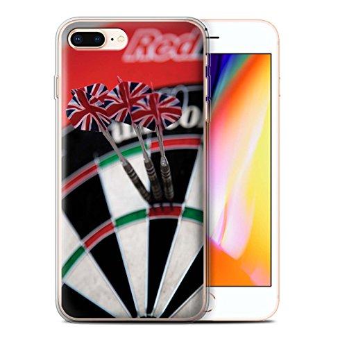Stuff4 Gel TPU Hülle / Case für Apple iPhone 8 Plus / Dreifach Bullseye Muster / Darts Foto Kollektion Dreifach 20/180 Maximal