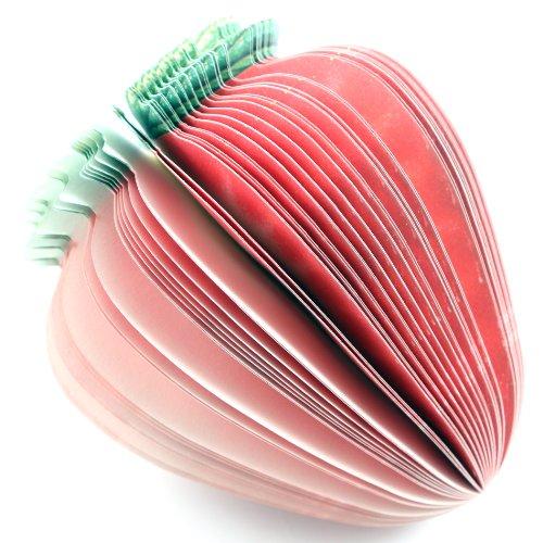 Gemüse Obst 3D Memo Notizblock DIY Hinweis Briefpapier (Erdbeere) (Hinweis Club)