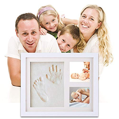 Kit de marco de huella de las mano y de los pies de bebé | el mejor regalo marco memorable del recién nacido, regalo de bebé Recuerdos memorables Decoraciones para pared de la habitación