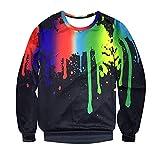 Pullover,SANFASHION Sweatshirts Herren Mode 3D Gedruckt Langarm Splash-Tinte Sweatshirt Top Bluse Streetwear