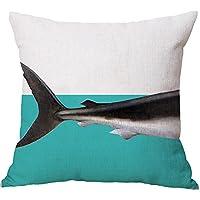 beiguoxia Creative Split Pattern Whale Dinosaur Shark Elephant Pillow Case Cushion Cover