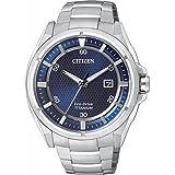 Montre Citizen Super Titanium Aw1400-52m Homme Bleu