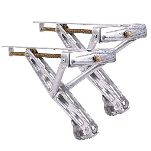 Preisvergleich Produktbild Ausdrehstütze Kurbelstütze für Wohnwagen 2er Set - Traglast 600 Kg Stahl verzinkt universal passend