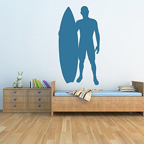 Surfista e tavola da surf Silhouette surf Wall Stickers Sport Decor Art Stickers disponibile in (Tavola Da Surf Verde Surf Decor)