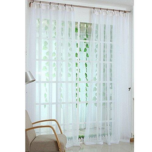 MyLifeUNIT Sheer Bianco tenda pannelli per soggiorno estate primavera calda articolo 101,6x 279,4cm