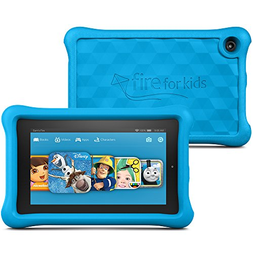 "Price comparison product image Fire Kids Edition Tablet, 7"" Display, Wi-Fi, 16 GB, Blue Kid-Proof Case"