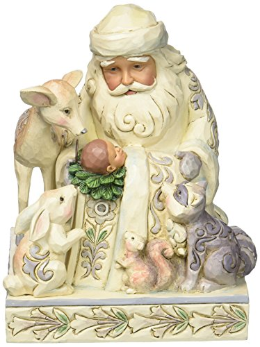 Heartwood Creek Woodland Santa With Baby Jesus Figurine -