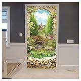 SWQ Adesivo per porta rimovibile Decorazione per la casa Adesivo da parete per autoadesivo serie porta modello autoadesiva romantico