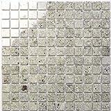 Granit Mosaik Kashmir White 2,3x2,3x0,8cm, 1 Tafel MOSAKO Fliesen