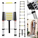 Smarty Ultra-Stable Aluminium Folding Telescopic Ladder, 3.2 m (10.5 Feet)