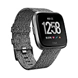 Fitbit Versa Special Edition Health & Fitness Smartwatch, charcoal, One Size, FB505BKGY-EU