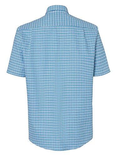 CASAMODA Herren Karohemd auch große Größen 100% Baumwolle Blau