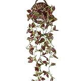 HUAESIN efeugirlande künstlich 3.4 FT efeu künstlich Scindapsus Künstliche Hängepflanzen Lang für Hochzeit Party Garten Festival Balkon Garten Dekor(lila)