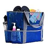 CHIC DIARY Strandtasche faltbar Sandfrei Netz Tasche Tragetasche Gummi Umhängetasche für Kinder Sandspielzeug Aufbewahrung Strand