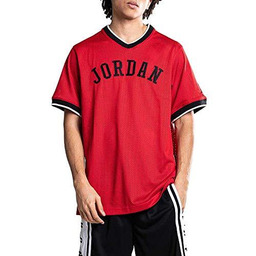 Nike Jumpman Air Mesh Jersey - gym red/black, Größe:L (Jersey Mesh Nike)