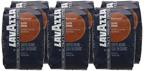 Lavazza Super Crema Coffee Beans (6 Packs of 1kg)