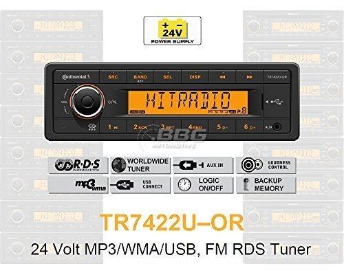 24V LKW Radio RDS Tuner MP3WMA USB Truck & Bus 24V tr7422u oder (24 Volt Radio)
