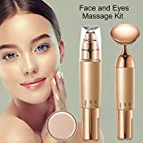 2-in-1 Face and Eye Massager Set Kit, Electric Face/Eye Roller Masssager, Energy Beauty