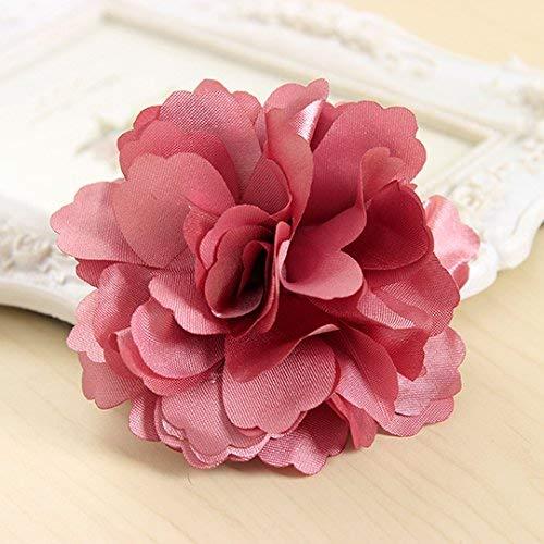 WMING Home Die hochwertigen Polsterstoffe, gewebt aus Seidenblume aus Blumen 胸 Trim The Clip Head Blumenfriese Mädchen 3882 Violett (Color : Pink) Blume Trim