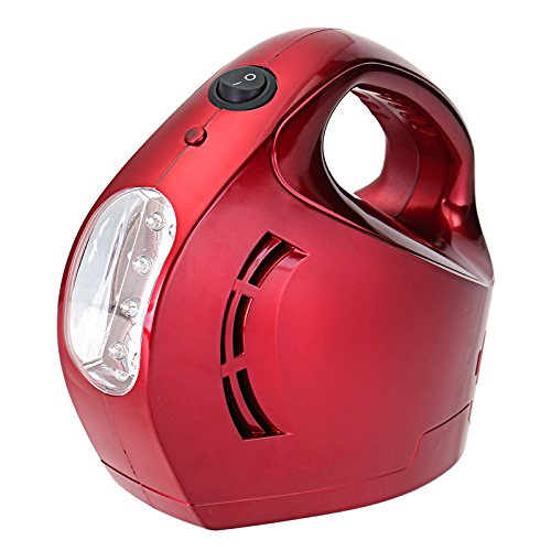 GOZAR 12V Elektrischer Auflauf mit LED-Beleuchtung Test Reifen Presure Portable Für Motorrad Elektrisches Fahrzeug - Rot