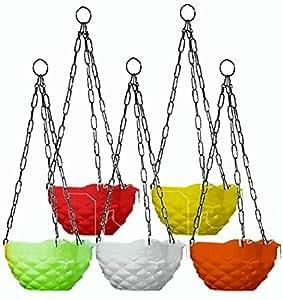 Khoji Diamond Hanging Pots (Multicoour)- Set of 5