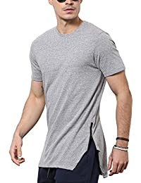 SKULT By Shahid Kapoor Men's Blended Side Zipper T-Shirt